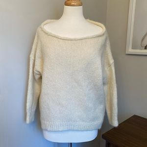 Juicy Couture Oversized Cream/White Mohair Sweater